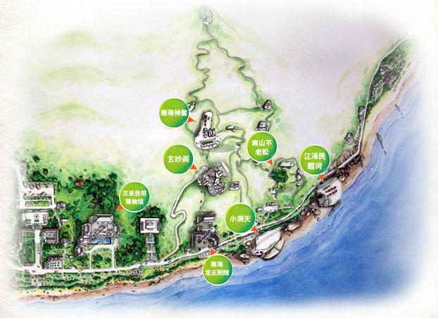 海南三亚大小洞天景区导览地图 @海南三亚大小洞天景区官网