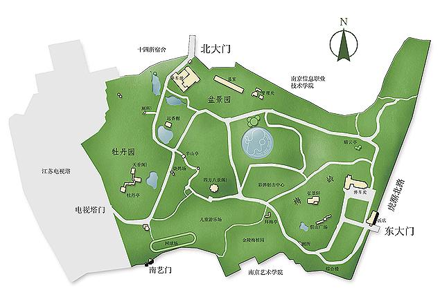 南京古林公园导览地图 @南京古林公园官网