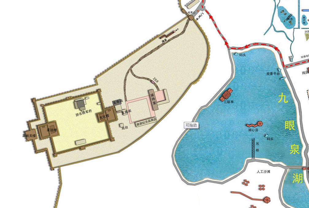 嘉峪关关城导览图