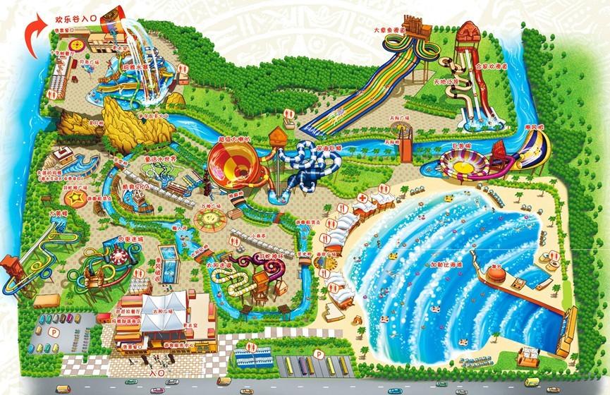 上海玛雅海滩水公园导览图 @玛雅海滩水公园官网