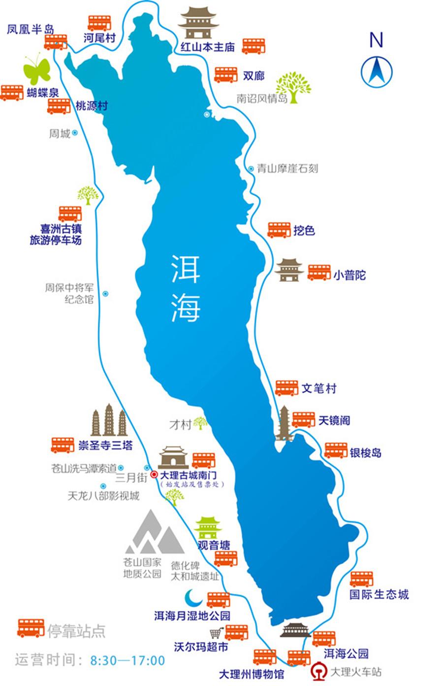 到罗荃半岛旅游区交通地图