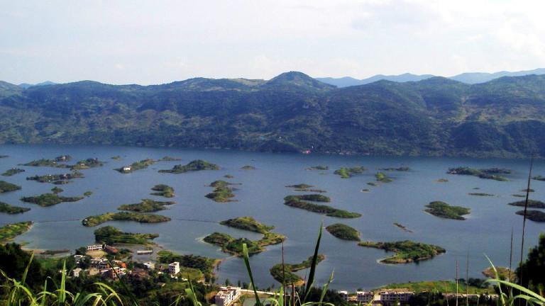 武汉黄石仙岛湖核心景区含船票观音洞,野人岛巴士1日游